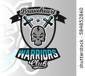 colorful logo  emblem  skull... | Shutterstock .eps vector #584852860