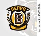 colorful logo  emblem  letter... | Shutterstock .eps vector #584852884