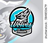 colorful logo  emblem  a wolf...   Shutterstock .eps vector #584853679