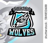 colorful logo  emblem  a wolf... | Shutterstock .eps vector #584853688
