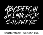 graphic font for your design.... | Shutterstock .eps vector #584854156