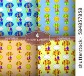 seamless pattern giraffes.... | Shutterstock .eps vector #584857858
