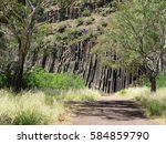 Volcanic Rock Formations With...