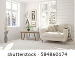 white room with armchair and... | Shutterstock . vector #584860174