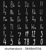 hand drawn alphabet letters... | Shutterstock .eps vector #584864536