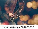 Jazz Saxophone Player In...