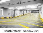 entrance to a modern... | Shutterstock . vector #584867254