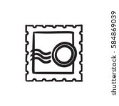philately vector sketch icon... | Shutterstock .eps vector #584869039