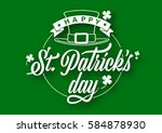 typography composition of st.... | Shutterstock .eps vector #584878930