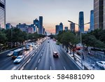 urban traffic view in modern...   Shutterstock . vector #584881090