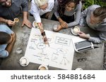 collaboration connection team... | Shutterstock . vector #584881684