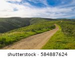 mountain trails of mount... | Shutterstock . vector #584887624