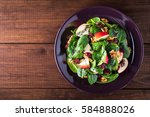 healthy salad plate with apple  ... | Shutterstock . vector #584888026