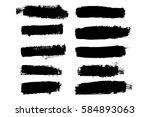 vector template set of grunge... | Shutterstock .eps vector #584893063