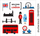 London Symbols Set Isolated On...
