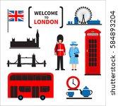 London Symbols Set Isolated On...