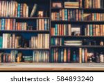 blurred  image many old books... | Shutterstock . vector #584893240
