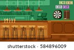 bar restaurant with counter in... | Shutterstock .eps vector #584896009