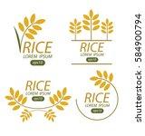 rice. vector illustration. | Shutterstock .eps vector #584900794