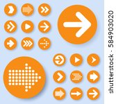 flat design orange arrow icon... | Shutterstock .eps vector #584903020