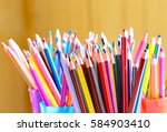 Many Colored Pencils In The...