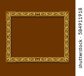 frame gold color with shadow on ... | Shutterstock .eps vector #584911918