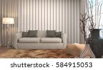 interior with sofa. 3d... | Shutterstock . vector #584915053