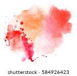 grunge illustration. bright red ... | Shutterstock . vector #584926423
