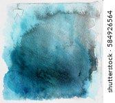 blue grunge watercolor...   Shutterstock . vector #584926564