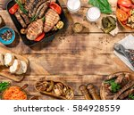 outdoors food concept.... | Shutterstock . vector #584928559