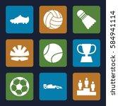 sport icons set. set of 9 sport ... | Shutterstock .eps vector #584941114
