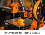 3d printer printing. close up... | Shutterstock . vector #584946538