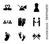 two icons set. set of 9 two...   Shutterstock .eps vector #584946850