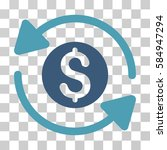 money turnover icon. vector... | Shutterstock .eps vector #584947294