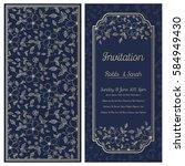 vintage wedding invitation | Shutterstock .eps vector #584949430
