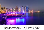 Stock photo beautiful doha at night 584949739