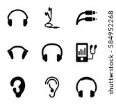 ear icons set. set of 9 ear... | Shutterstock .eps vector #584952268