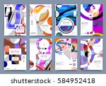 abstract background  brochure... | Shutterstock .eps vector #584952418