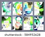 abstract background  brochure... | Shutterstock .eps vector #584952628
