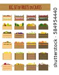 vector crates with fresh fruits.... | Shutterstock .eps vector #584954440