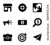 startup icons set. set of 9... | Shutterstock .eps vector #584955154