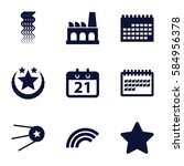 trendy icons set. set of 9...