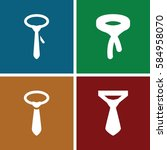 dresscode icons set. set of 4... | Shutterstock .eps vector #584958070