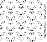 seamless pattern with easter...   Shutterstock .eps vector #584962084
