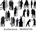 illustration with loving... | Shutterstock .eps vector #584963740