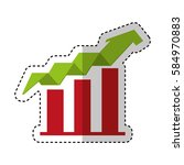 arrow growth isolated icon   Shutterstock .eps vector #584970883