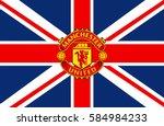 manchester  england feb 22 ... | Shutterstock .eps vector #584984233