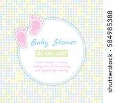 baby shower invitation card | Shutterstock .eps vector #584985388