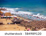 top view of the beach resort of ... | Shutterstock . vector #584989120