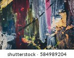 oil on canvas texture | Shutterstock . vector #584989204